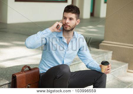 Having Coffee Break