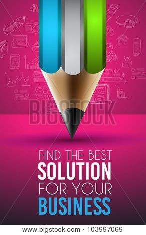 Clean Infographic Layout Template for data and information analysis with a number of solutions available. Ideal for product presentation, item ranking, ideas evaluation and so on. poster
