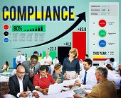 Compliance Rules Law Follow Regulation Concept poster