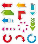 Colorful arrows. Image for design and more. poster