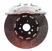 Carbon ceramic brake for high perfomance automobiles poster