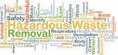 Background concept wordcloud illustration of hazardous waste removal poster