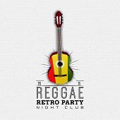 Reggae party insignia  and labels can be used for design, invitations, flyers, banners Site poster