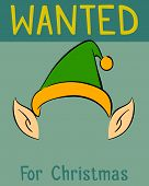 Wanted Christmas poster for the elf vector illustration poster
