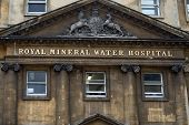 Mineral Water Hospital, the Royal National Hospital for rheumatic diseases in the centre of Bath, Somerset, England poster