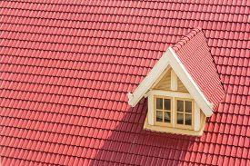 Dormer Window On Red Roof