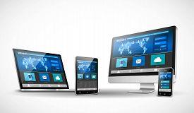 Vector modern web design in responsive website
