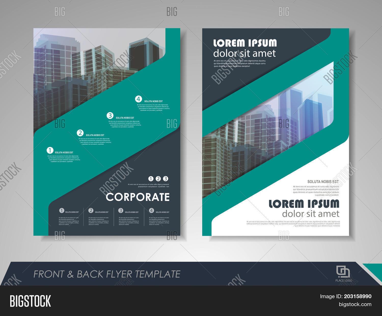 Modern Blue Brochure Vector Photo Free Trial Bigstock