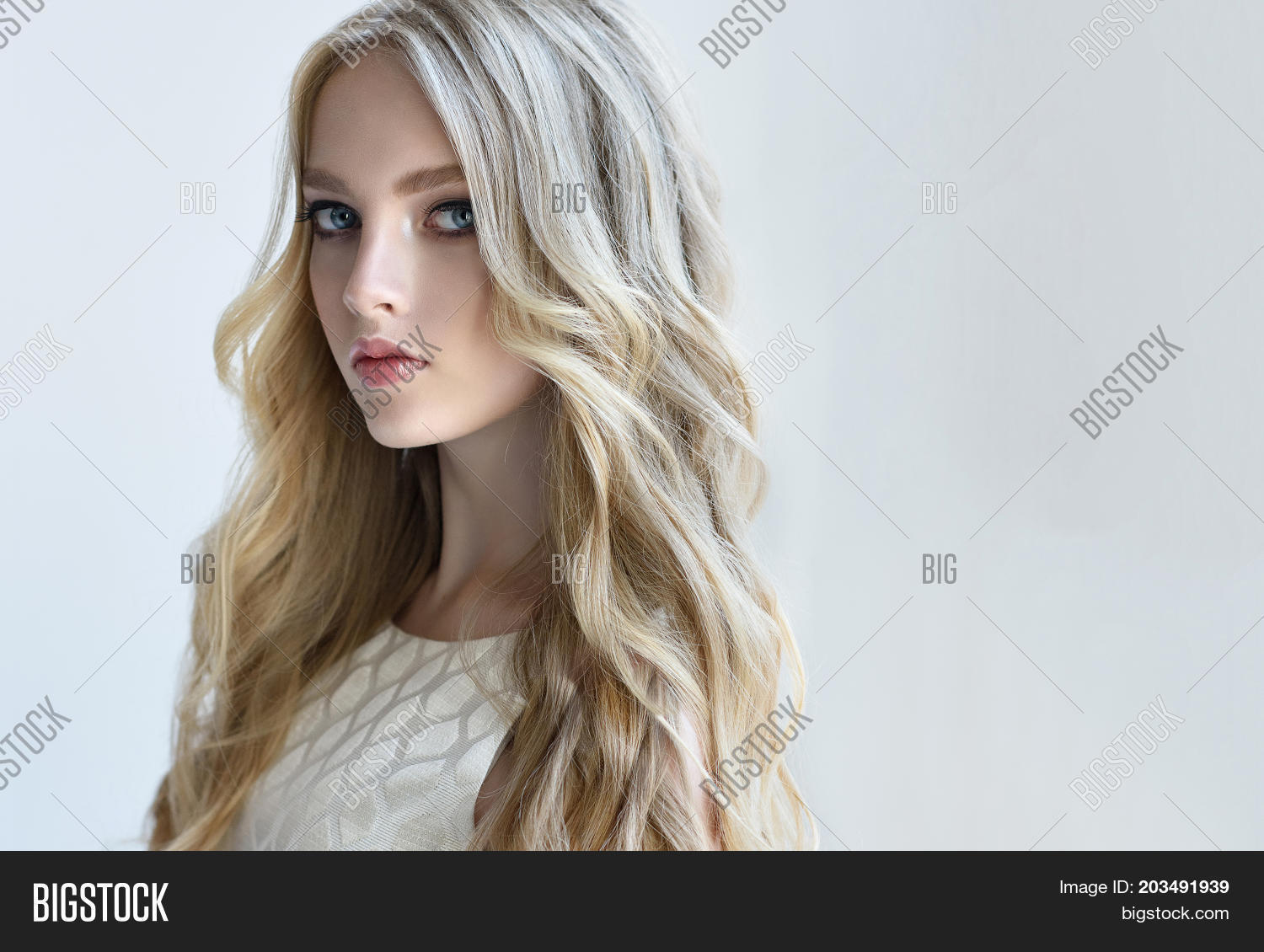Blonde Fashion Girl Image Photo Free Trial Bigstock