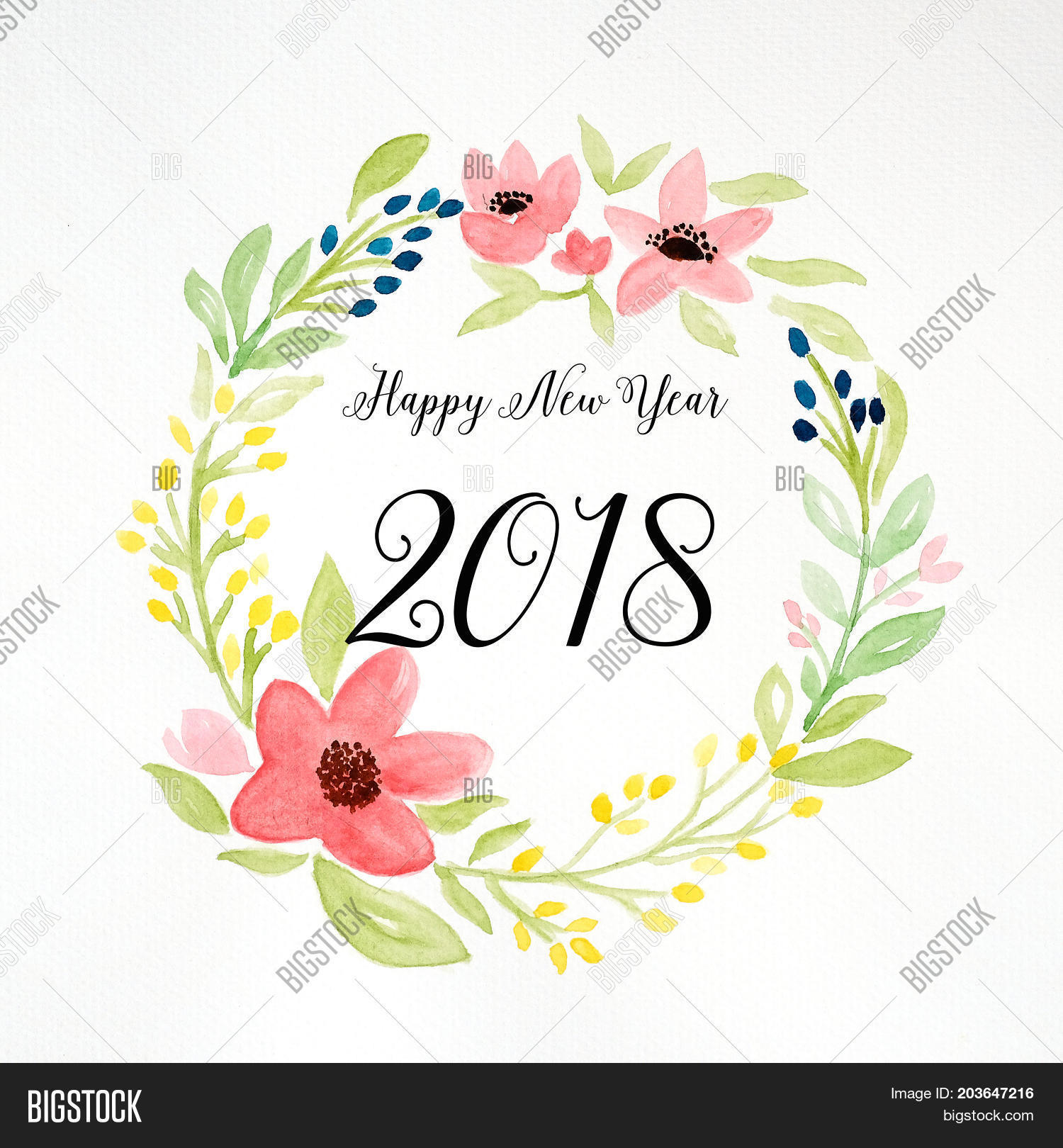 Happy New Year 2018 On Image & Photo (Free Trial) | Bigstock