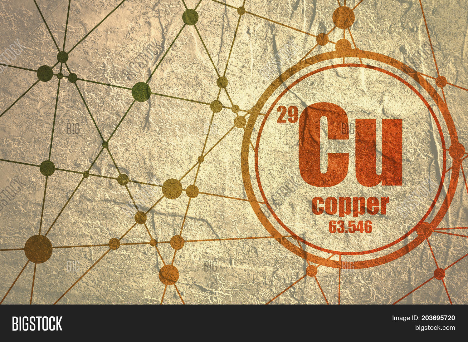 Copper chemical image photo free trial bigstock copper chemical element sign with atomic number and atomic weight chemical element of periodic urtaz Image collections