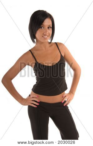 Attractive Female In Sports Wear
