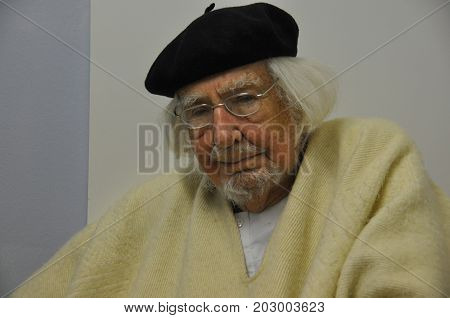 GERMANY - MARCH 5, 2015: Ernesto Cardenal, Nicaraguan Catholic priest, poet and politician, visited Magdeburg.
