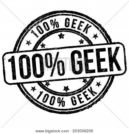 100% Geek Sign Or Stamp