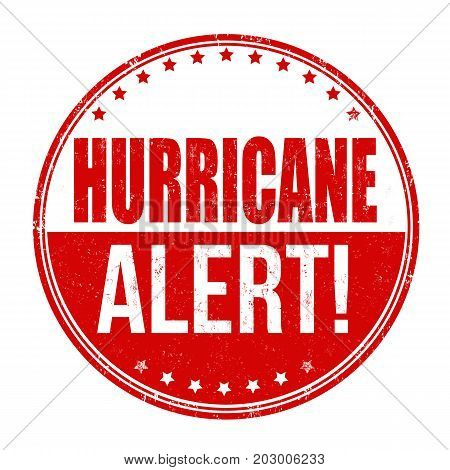 Hurricane Alert Sign Or Stamp