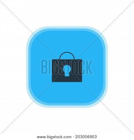Beautiful Web Element Also Can Be Used As Keyhole Element.  Vector Illustration Of Lock Icon.