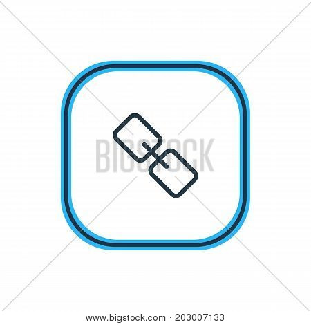 Beautiful App Element Also Can Be Used As Url Element.  Vector Illustration Of Link Outline.