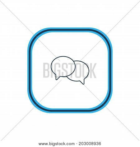 Beautiful Web Element Also Can Be Used As Talking Element.  Vector Illustration Of Chat Outline.
