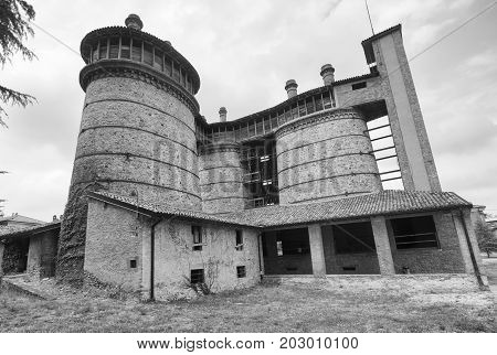 Ponte dell'Olio (Piacenza Emilia-Romagna Italy): the historic furnace. Black and white