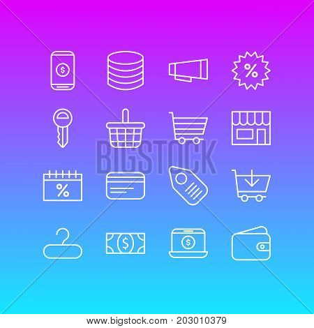 Editable Pack Of Sales, Clef, Box And Other Elements.  Vector Illustration Of 16 Wholesale Icons.