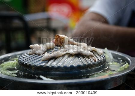 Bar-B-Q or grilled pork in korean style.