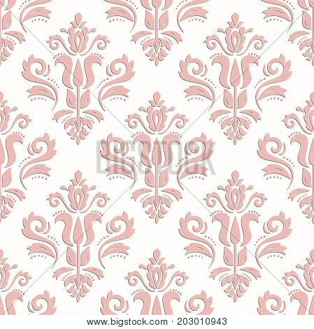Classic seamless vector pink pattern. Traditional orient ornament. Classic vintage background