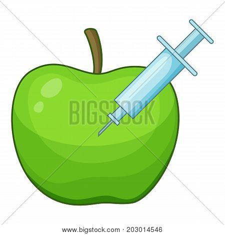 Apple inject icon. Cartoon illustration of apple inject vector icon for web