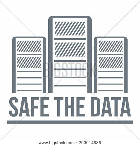 Safe the data logo. Simple illustration of safe the data vector logo for web design isolated on white background