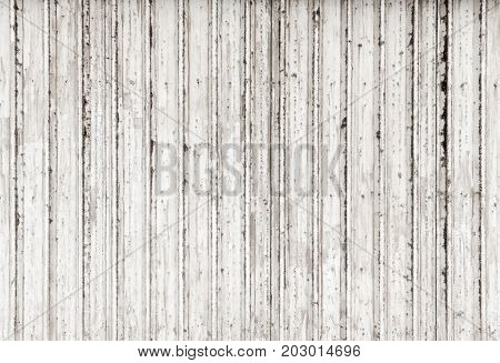 Grungy Corrugated White Metal Fence Texture
