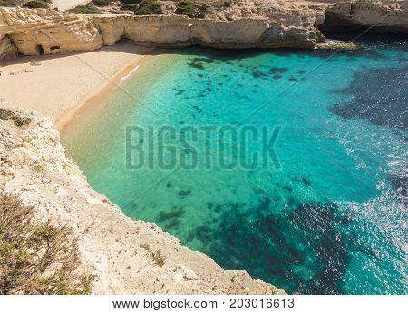 Beautiful beach of Carvalho, Algarve, Portugal