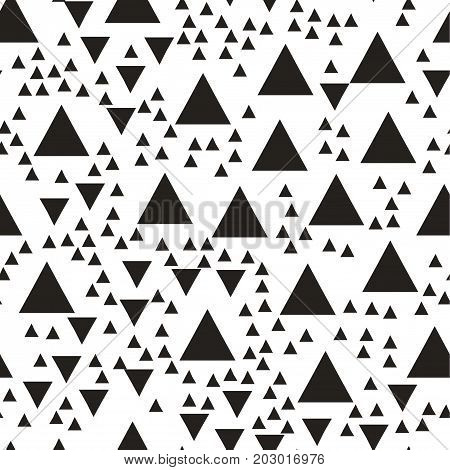 Vector seamless pattern with triangles. Modern stylish texture. Repeating geometric tiles. Hipster simple design with randomly disposed geometric shapes Vector illustration