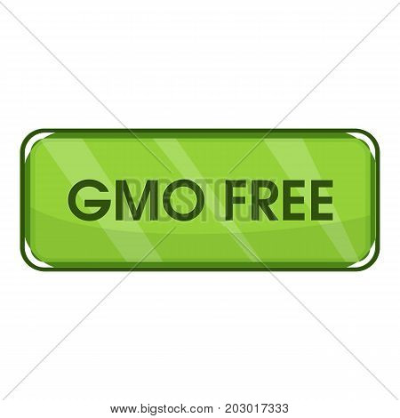 Gmo free icon. Cartoon illustration of gmo free vector icon for web
