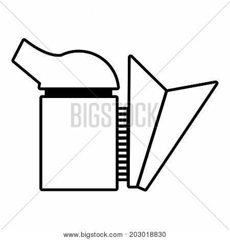 Beehive smoker icon. Outline illustration of beehive smoker vector icon for web design isolated on white background