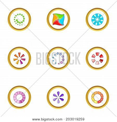 Download cursor icons set. Cartoon set of 9 download cursor vector icons for web isolated on white background