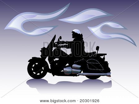 motocicleta gráfica en Chrom