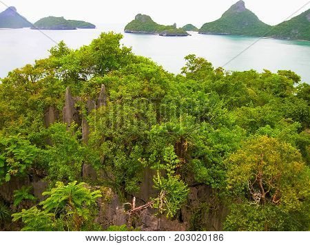 The beautiful landscape at Mu Ko Ang Thong National Marine Park in Thailand. Asia.