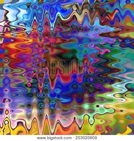 Abstract coloring background of the horizon gradient with visual wave,slice, twirl,pinch and lighting effects