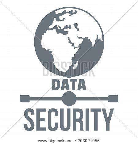 Global data security logo. Simple illustration of global data security vector logo for web design isolated on white background