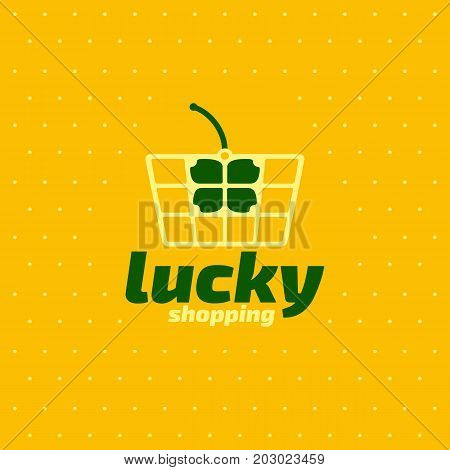 Banner for retail mall shop lucky shopping action sale event vector template