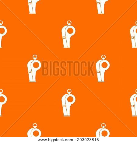 Whistle of refere pattern repeat seamless in orange color for any design. Vector geometric illustration