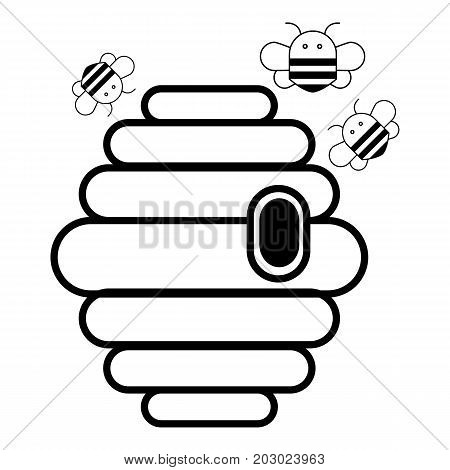 Swarm icon. Outline illustration of swarm vector icon for web design isolated on white background