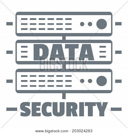 Server data security logo. Simple illustration of server data security vector logo for web design isolated on white background