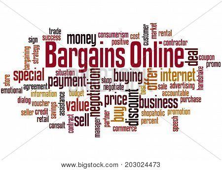 Bargains Online, Word Cloud Concept
