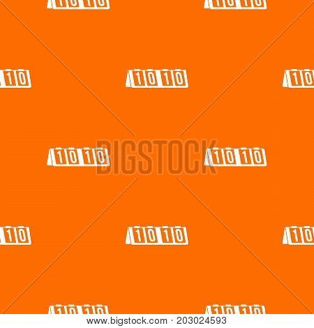 Tennis scoreboard pattern repeat seamless in orange color for any design. Vector geometric illustration