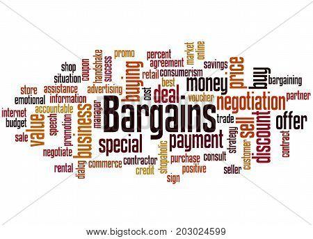 Bargains, Word Cloud Concept
