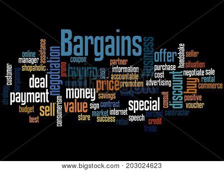 Bargains, Word Cloud Concept 3