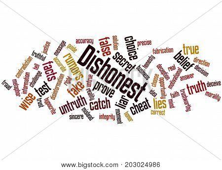 Dishonest, Word Cloud Concept