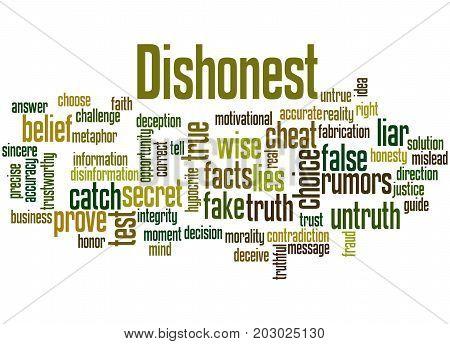 Dishonest, Word Cloud Concept 5