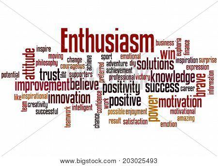 Enthusiasm, Word Cloud Concept