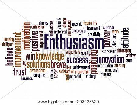 Enthusiasm, Word Cloud Concept 2